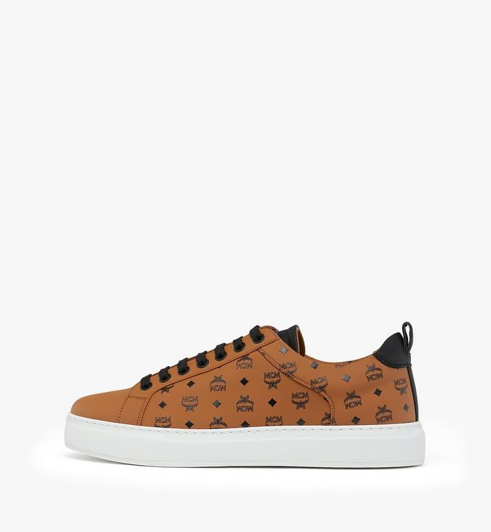 MCM Men's Low-Top Sneakers in Visetos Alternate View 3