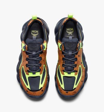 MCM Men's Low-Top Himmel Sneaker in Visetos Alternate View 5