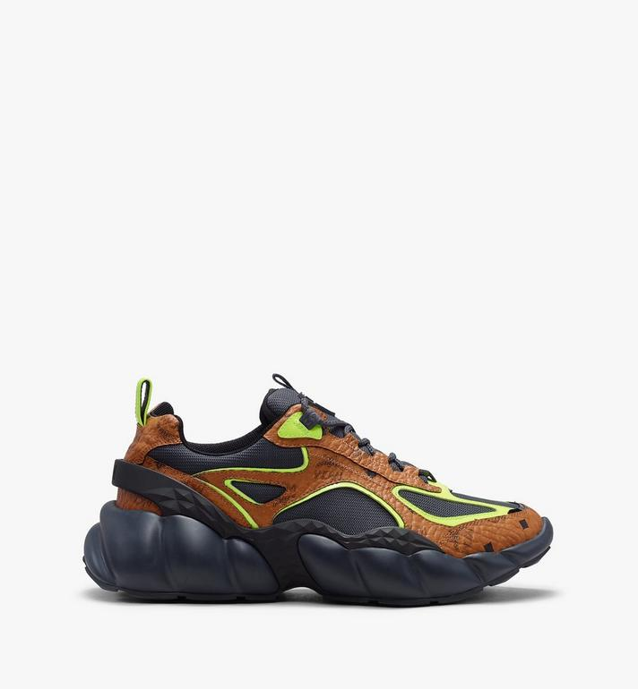 MCM Men's Low-Top Himmel Sneaker in Visetos Cognac MEX9ANX05CO043 Alternate View 2