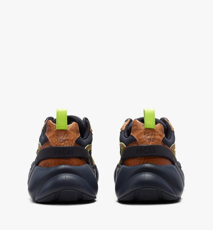 MCM Men's Low-Top Himmel Sneaker in Visetos Cognac MEX9ANX05CO043 Alternate View 3