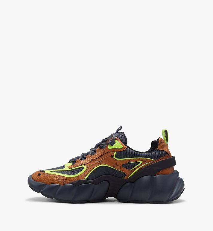 MCM Men's Low-Top Himmel Sneaker in Visetos Cognac MEX9ANX05CO043 Alternate View 4
