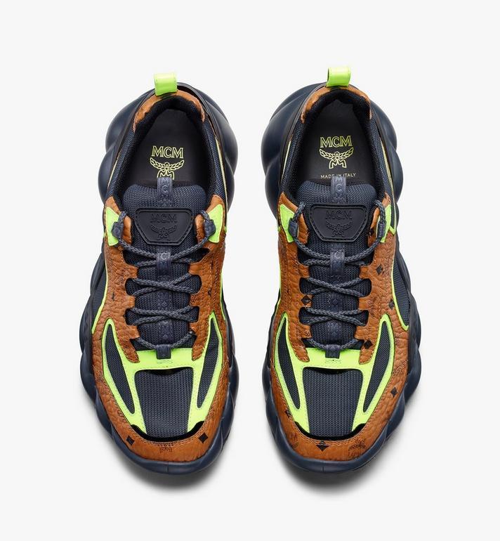 MCM Men's Low-Top Himmel Sneaker in Visetos Cognac MEX9ANX05CO043 Alternate View 5