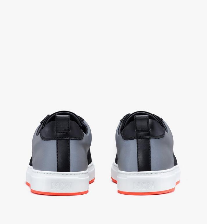 MCM Men's Resnick Low-Top Sneaker in Reflective Mesh Black MEX9ARA71BK043 Alternate View 3