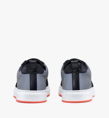 MCM Men's Resnick Low-Top Sneaker in Reflective Mesh Black MEX9ARA71BK044 Alternate View 3