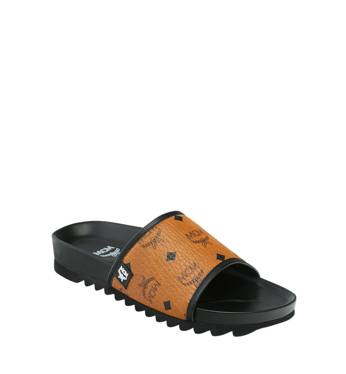 MCM Men's Slides in Visetos Alternate View