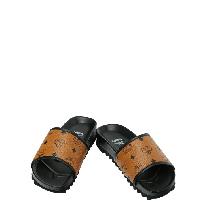MCM Men's Slides in Visetos Alternate View 4