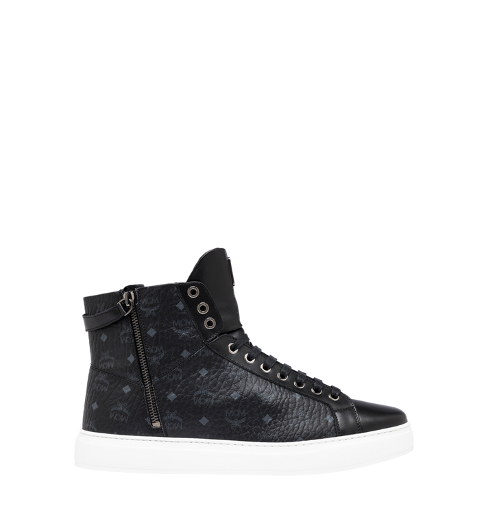 MCM Men's Classic High Top Sneakers in Visetos Alternate View 2