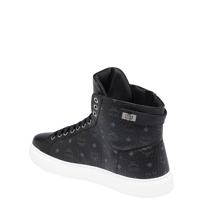 MCM Men's Classic High Top Sneakers in Visetos Alternate View 3