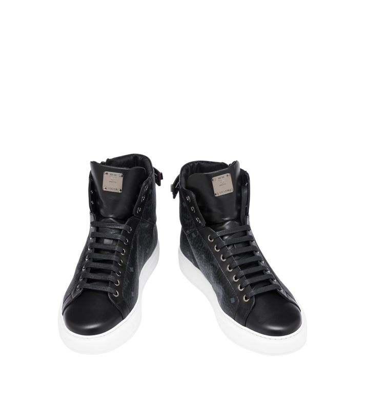 MCM Men's Classic High Top Sneakers in Visetos Alternate View 4