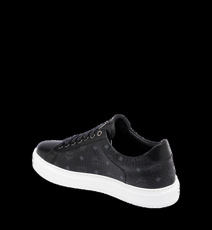 MCM Men's Classic Low Top Sneakers in Visetos Black MEX9SMM04BK042 Alternate View 3