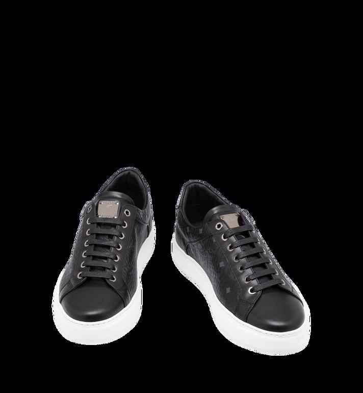 MCM Men's Classic Low Top Sneakers in Visetos Black MEX9SMM04BK042 Alternate View 4