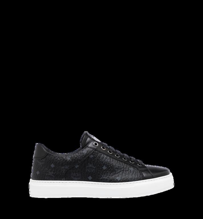 MCM Men's Classic Low Top Sneakers in Visetos Black MEX9SMM04BK043 Alternate View 2