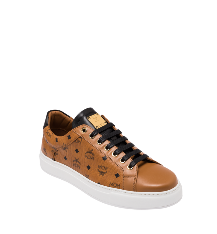 MCM Men's Low-Top Sneakers in Visetos Alternate View