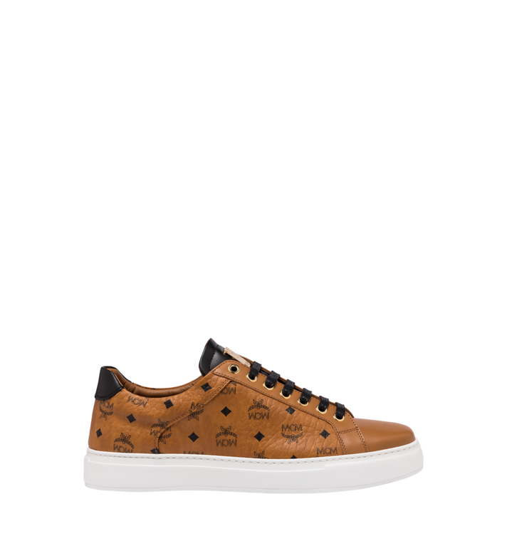 MCM Men's Low-Top Sneakers in Visetos Cognac MEX9SMM04CO043 Alternate View 2