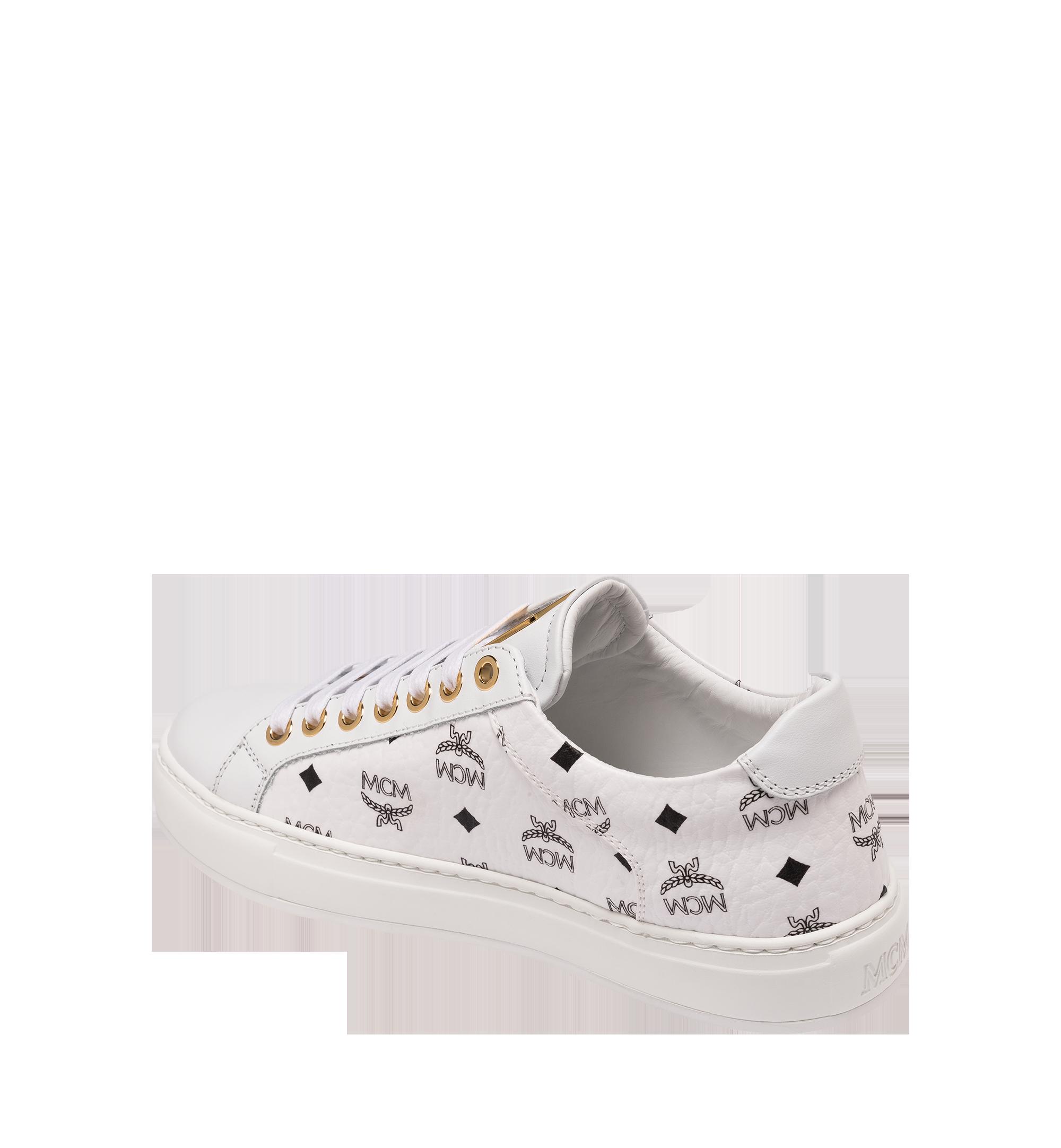 MCM 男士 Visetos 低筒運動鞋 White MEX9SMM04WT042 更多視圖 2