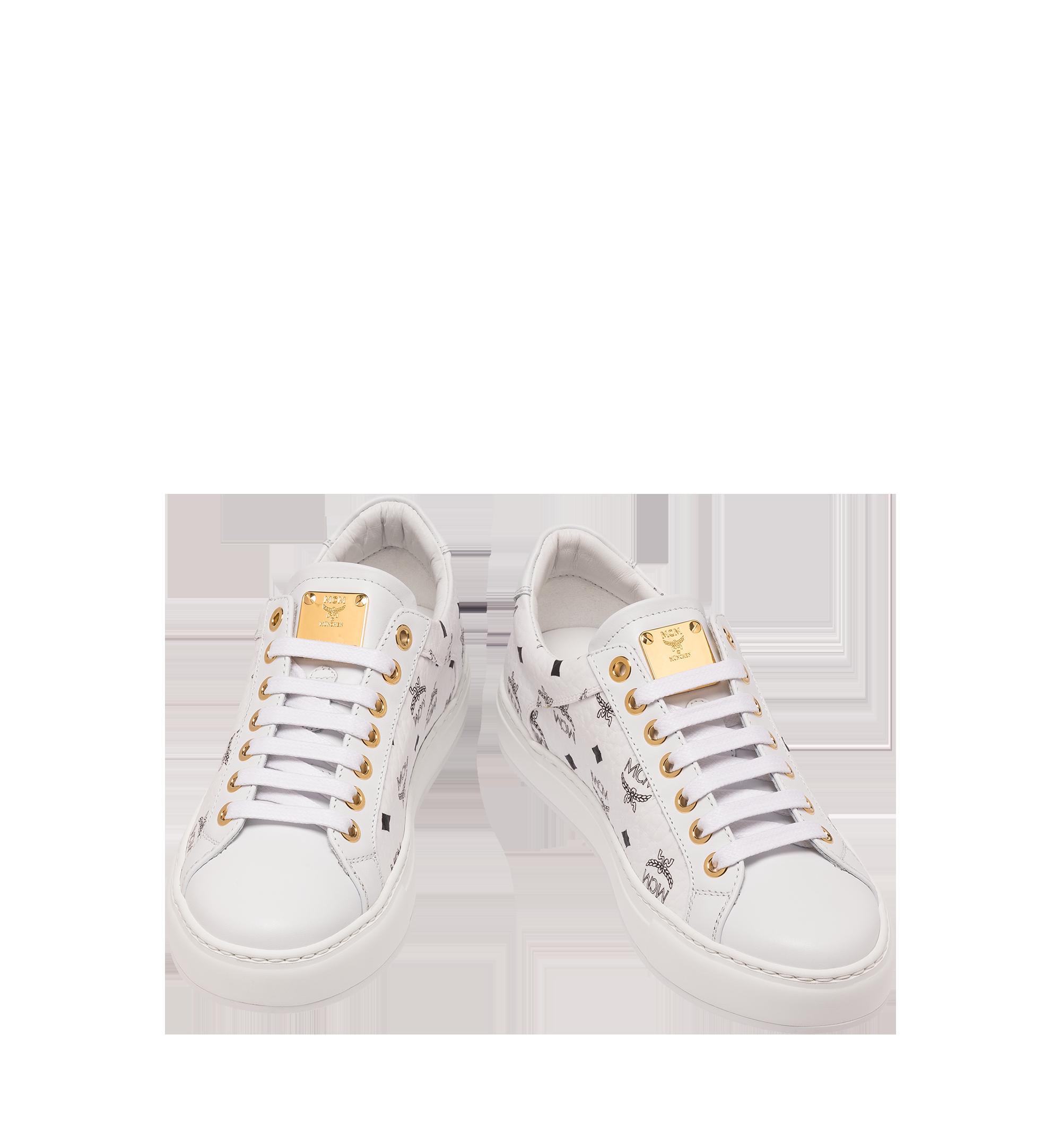 MCM 男士 Visetos 低筒運動鞋 White MEX9SMM04WT042 更多視圖 3