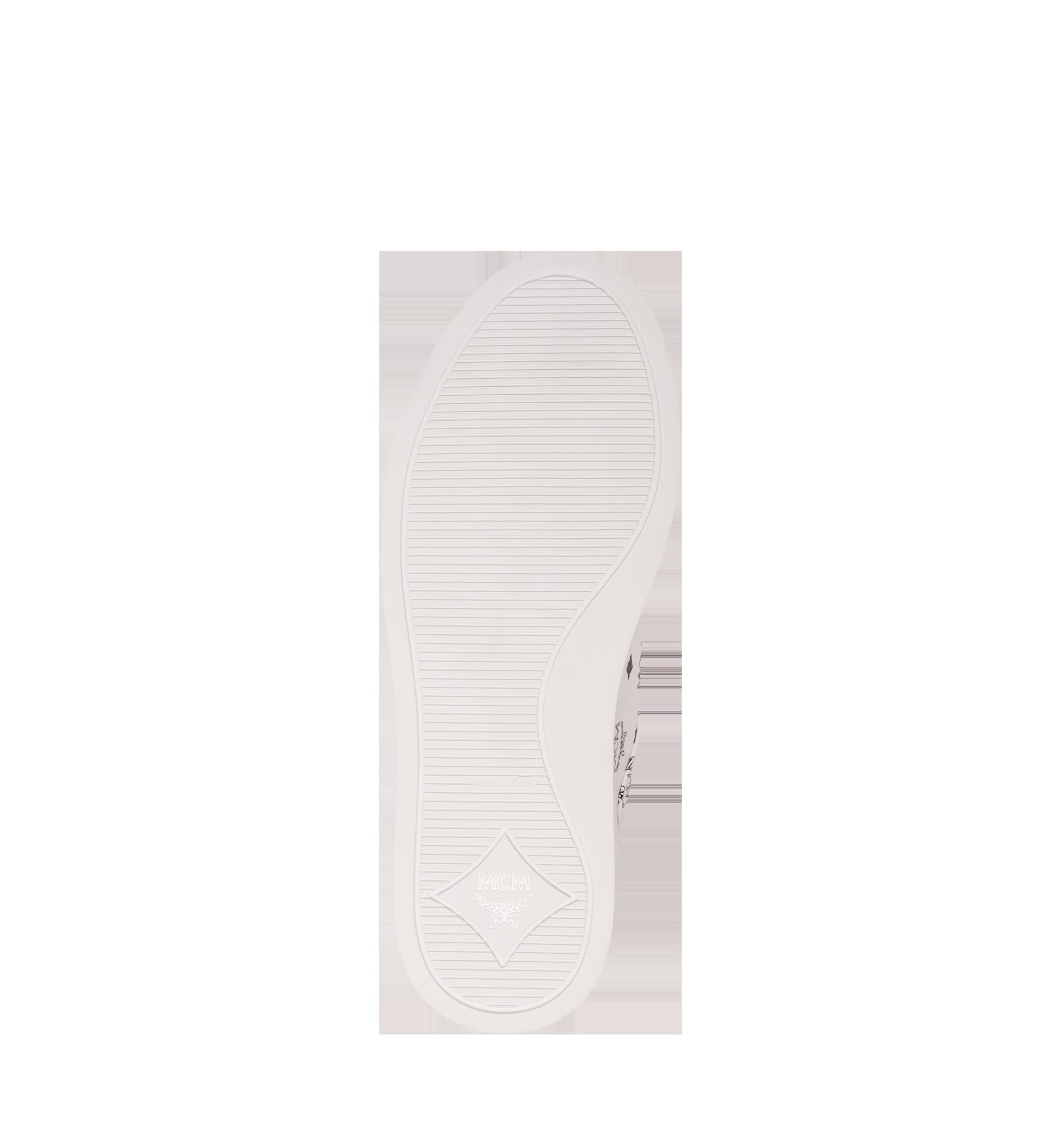 MCM 男士 Visetos 低筒運動鞋 White MEX9SMM04WT042 更多視圖 4