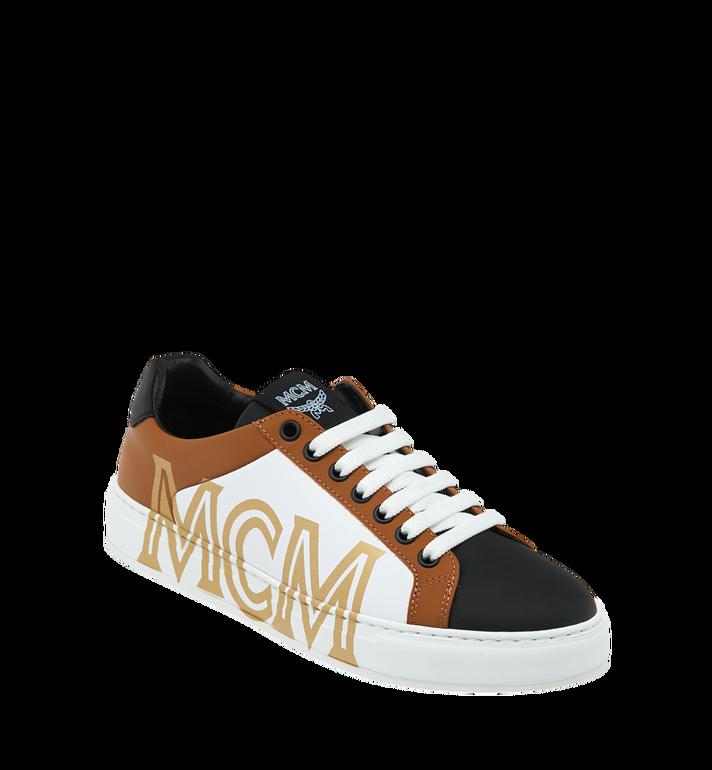 MCM Men's Low Top Sneakers in Logo Leather Alternate View
