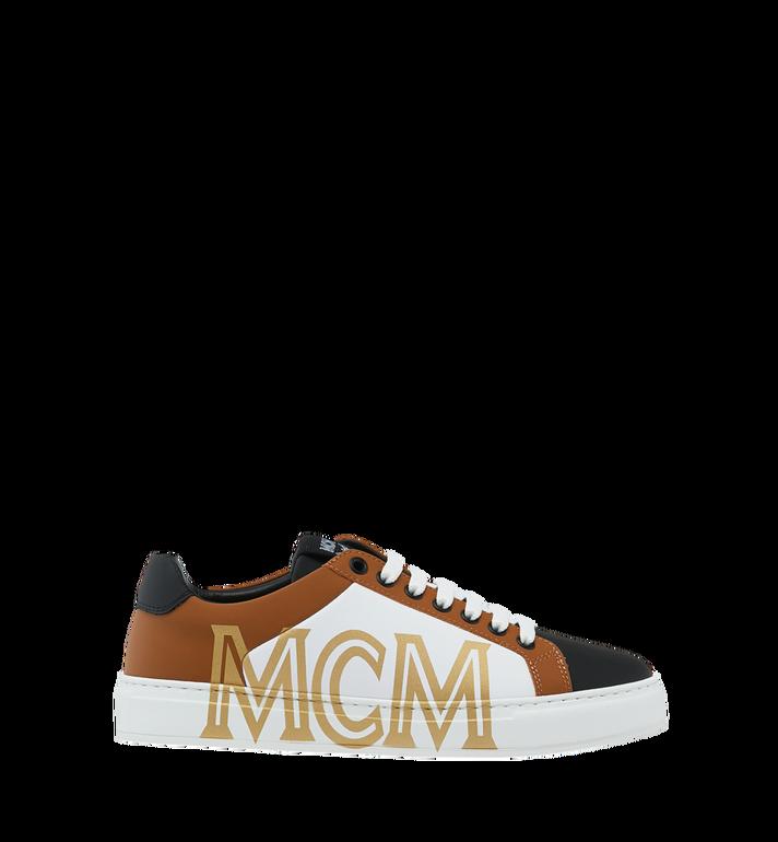 MCM Men's Low Top Sneakers in Logo Leather Alternate View 2
