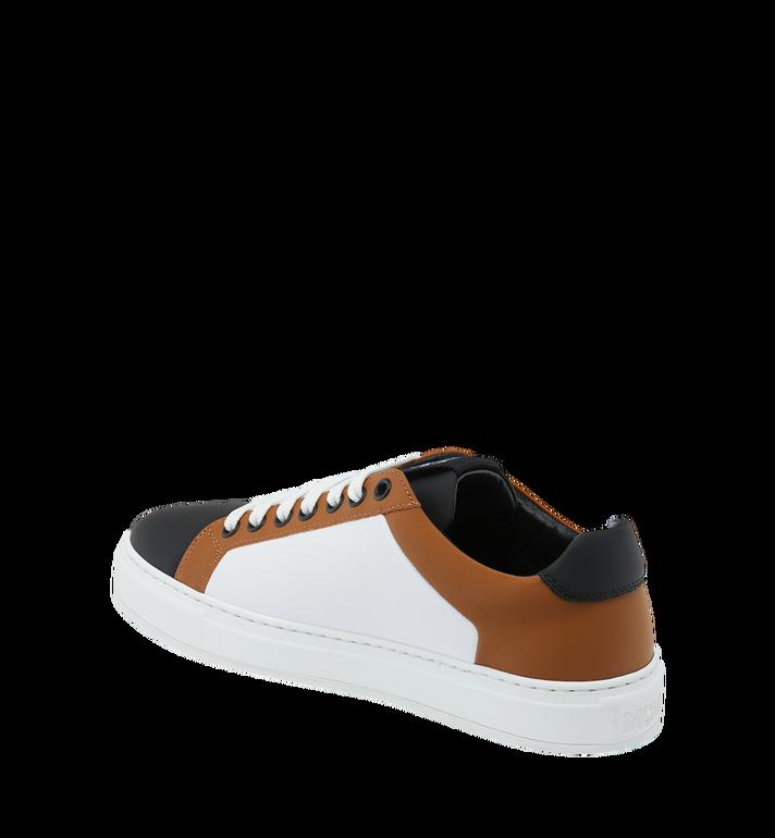 MCM Men's Low Top Sneakers in Logo Leather Alternate View 3