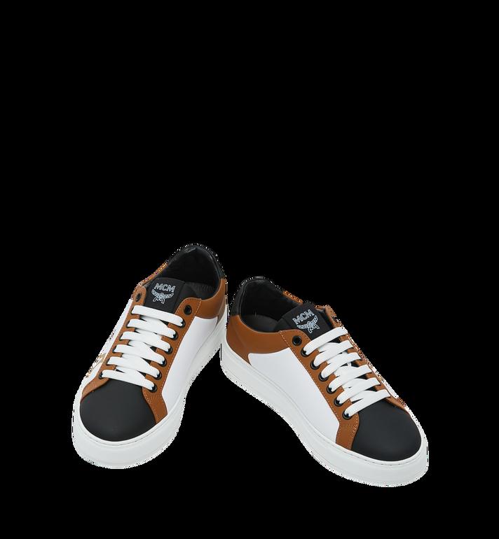 MCM Men's Low Top Sneakers in Logo Leather Alternate View 4
