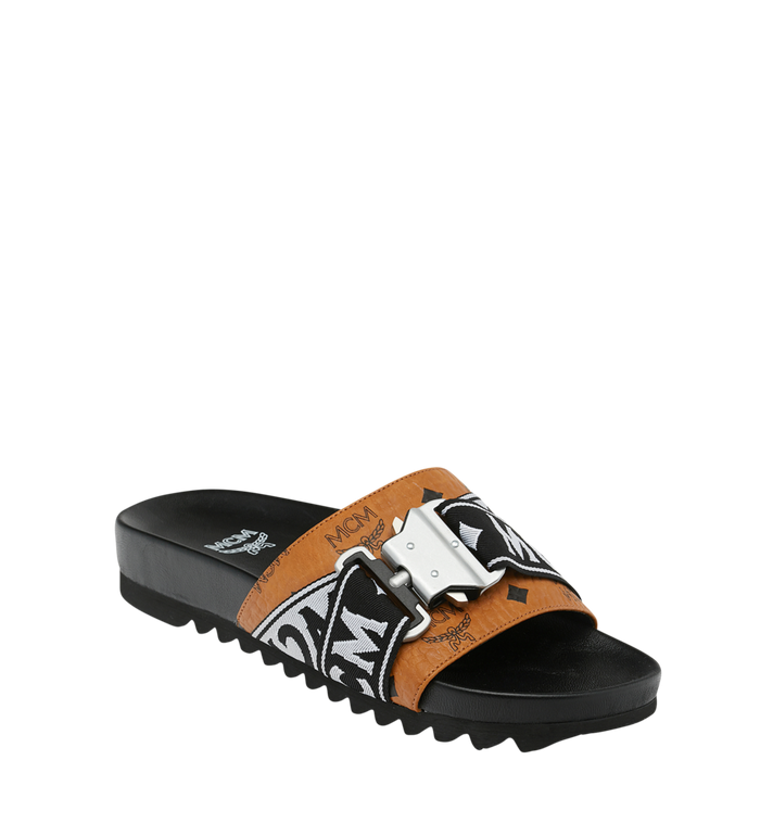 MCM Men's Slides in Webbing Visetos AlternateView1