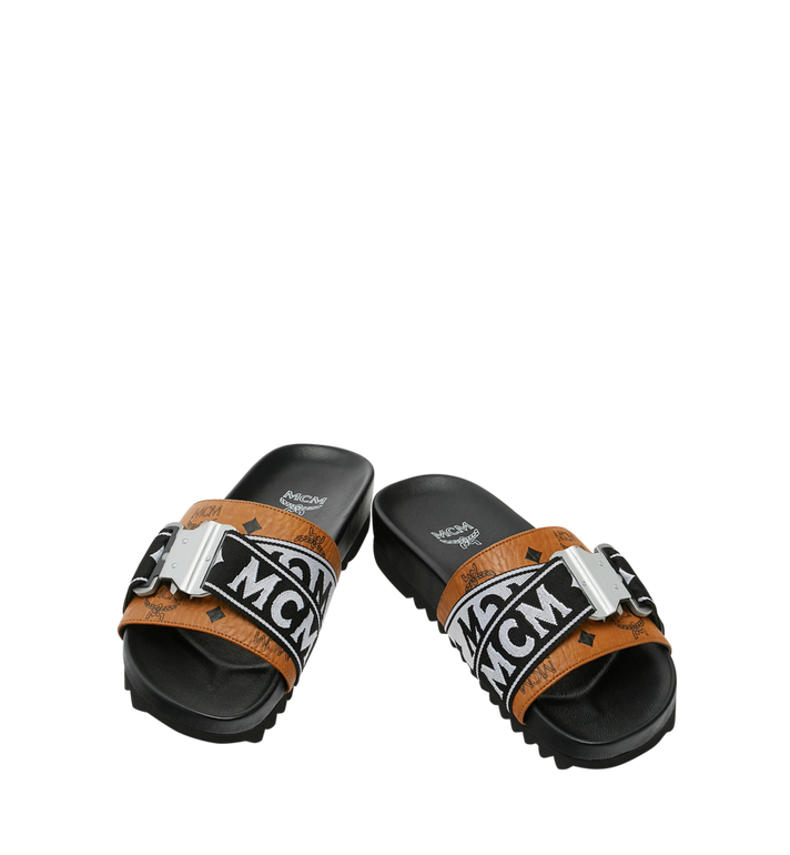 MCM Men's Slides in Webbing Visetos AlternateView4