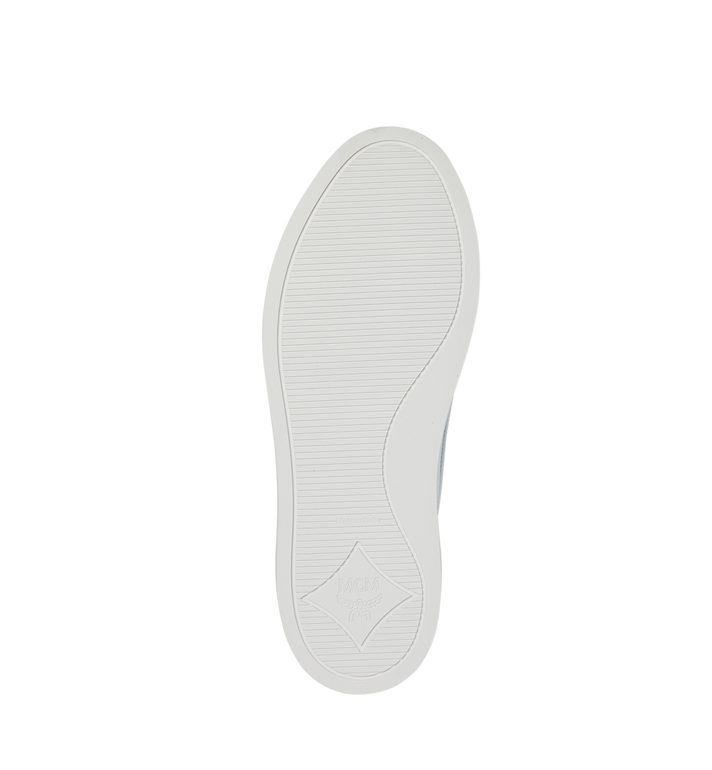 MCM Men's Slip On Sneakers in Visetos White MEX9SMM40WT042 Alternate View 5