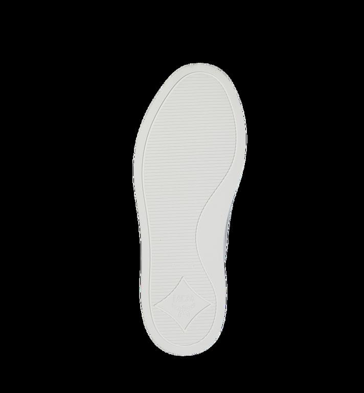 MCM Men's Slip On Sneakers in Visetos White MEX9SMM40WT044 Alternate View 5
