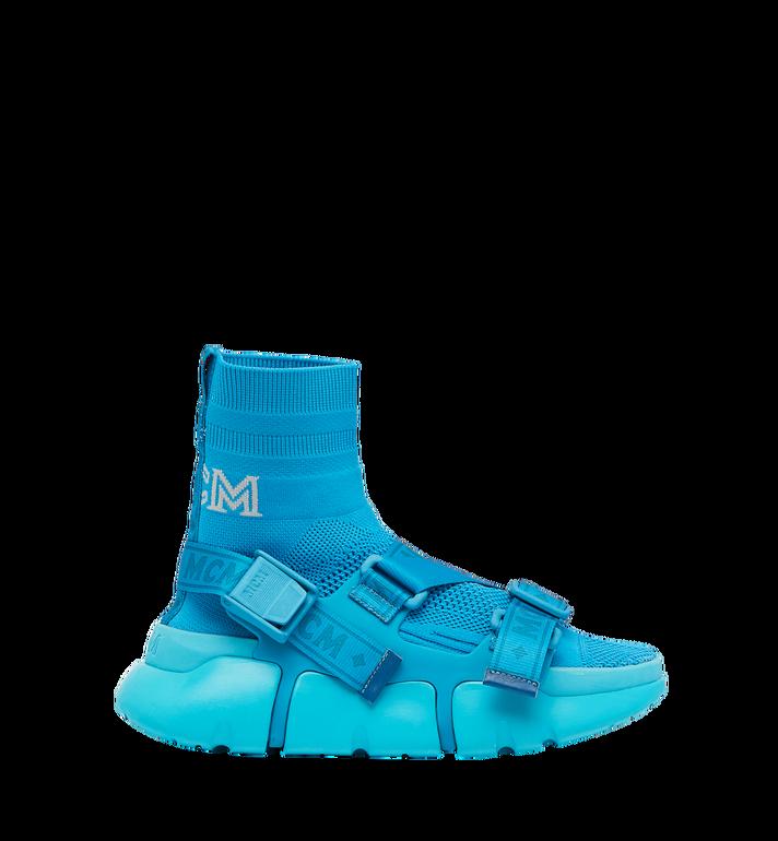 MCM Men's Himmel Sock Sneakers Blue MEX9SNX01HU043 Alternate View 2