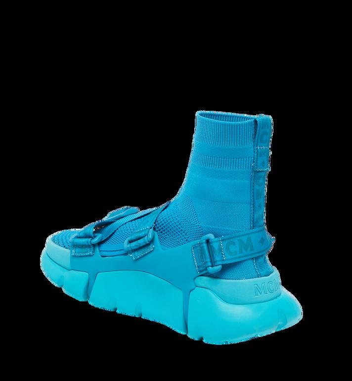 MCM Men's Himmel Sock Sneakers Blue MEX9SNX01HU043 Alternate View 3