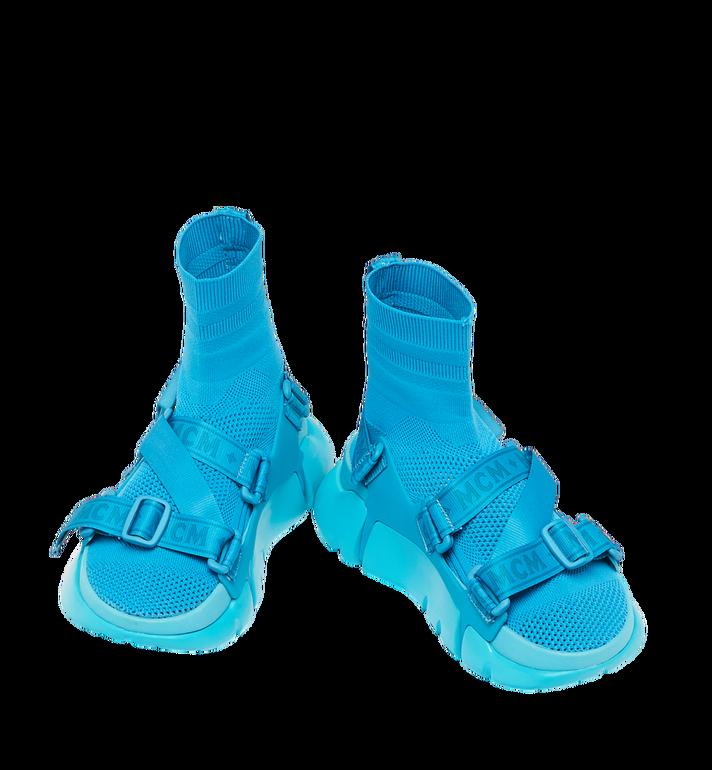 MCM Men's Himmel Sock Sneakers Blue MEX9SNX01HU043 Alternate View 4