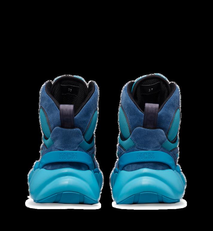 MCM Men's Himmel High Top Sneaker in Suede Blue MEX9SNX02LU042 Alternate View 5