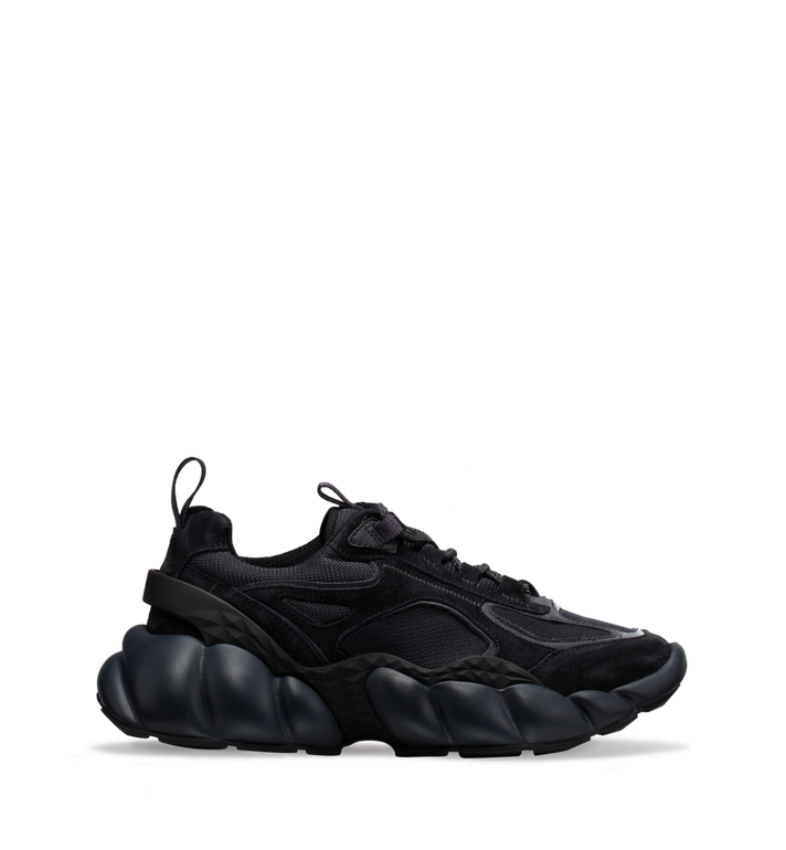 MCM Men's Himmel Low Top Sneakers in Suede Black MEX9SNX04FE042 Alternate View 2