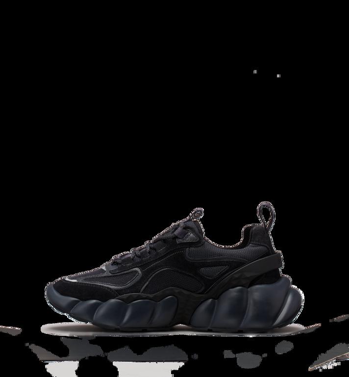 MCM Men's Himmel Low Top Sneakers in Suede Black MEX9SNX04FE042 Alternate View 3