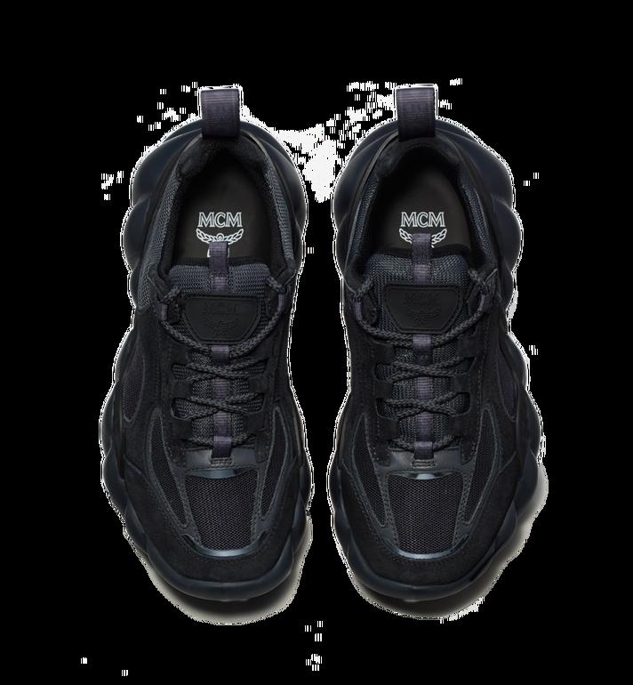 MCM Men's Himmel Low Top Sneakers in Suede Black MEX9SNX04FE042 Alternate View 4