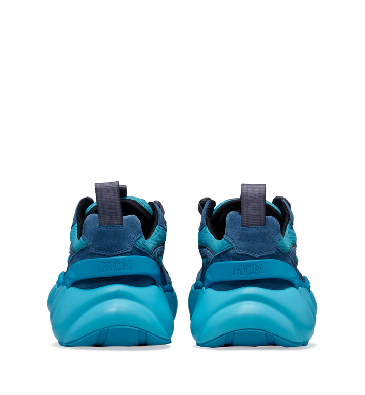 MCM Men's Himmel Low Top Sneakers in Suede Blue MEX9SNX04LU043 Alternate View 5