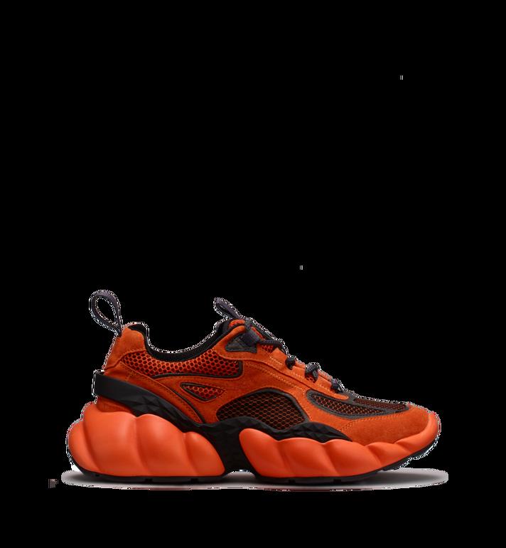 MCM Men's Himmel Low Top Sneakers in Suede Orange MEX9SNX04OE041 Alternate View 2