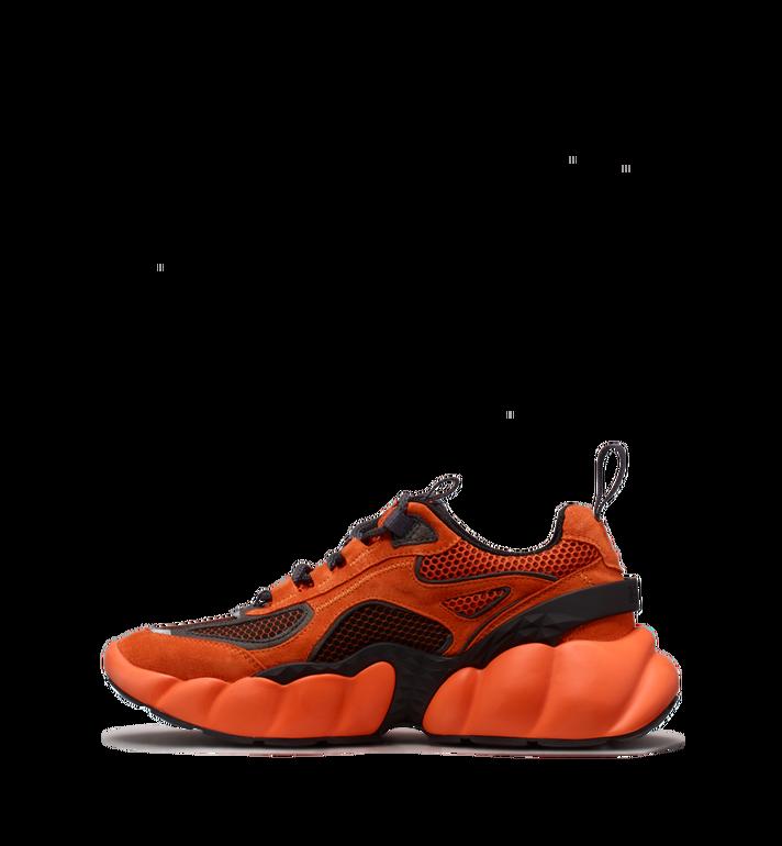 MCM Men's Himmel Low Top Sneakers in Suede Orange MEX9SNX04OE041 Alternate View 3