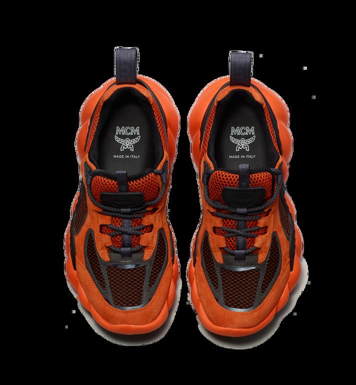 MCM Men's Himmel Low Top Sneakers in Suede Orange MEX9SNX04OE041 Alternate View 4