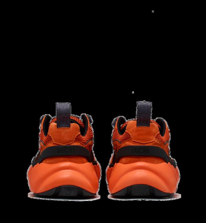 MCM Men's Himmel Low Top Sneakers in Suede Orange MEX9SNX04OE041 Alternate View 5