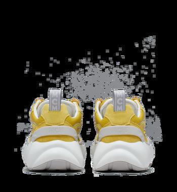 MCM Men's Himmel Low Top Sneakers in Suede Yellow MEX9SNX04YW042 Alternate View 5