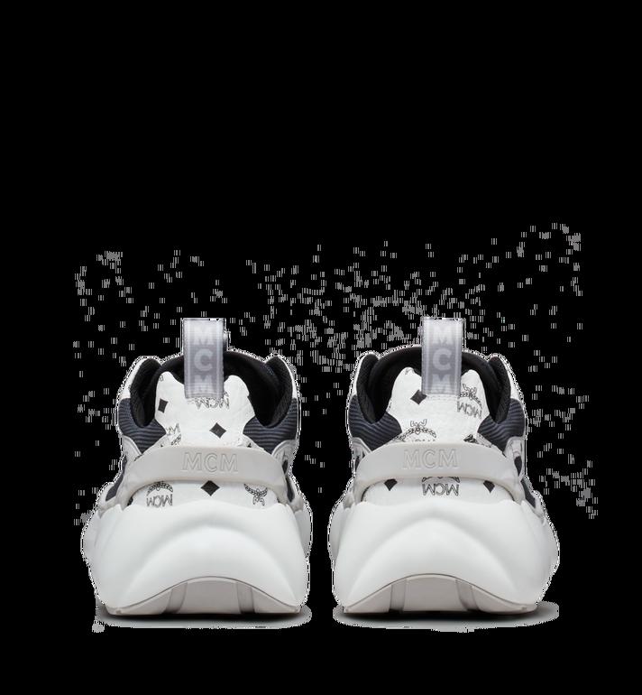 MCM Men's Himmel Low Top Sneakers in Visetos White MEX9SNX05WT041 Alternate View 5