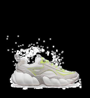 MCM Men's Himmel Low Top Sneakers in Suede White MEX9SNX06WT041 Alternate View 2