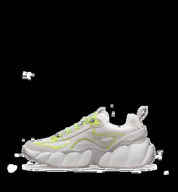 MCM Men's Himmel Low Top Sneakers in Suede White MEX9SNX06WT041 Alternate View 3