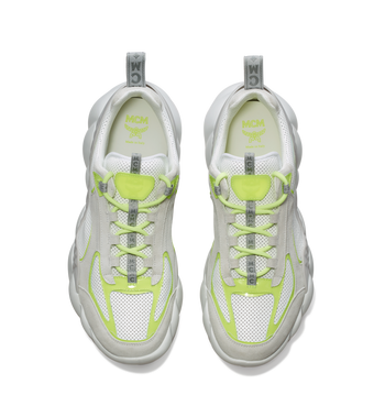 MCM Men's Himmel Low Top Sneakers in Suede White MEX9SNX06WT041 Alternate View 4