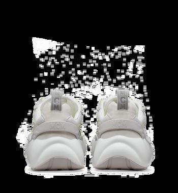 MCM Men's Himmel Low Top Sneakers in Suede White MEX9SNX06WT041 Alternate View 5