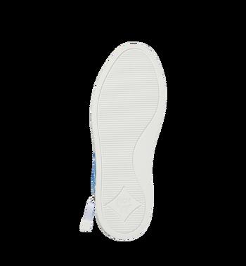 MCM Men's High Top Sneakers in White Logo Visetos Alternate View 5
