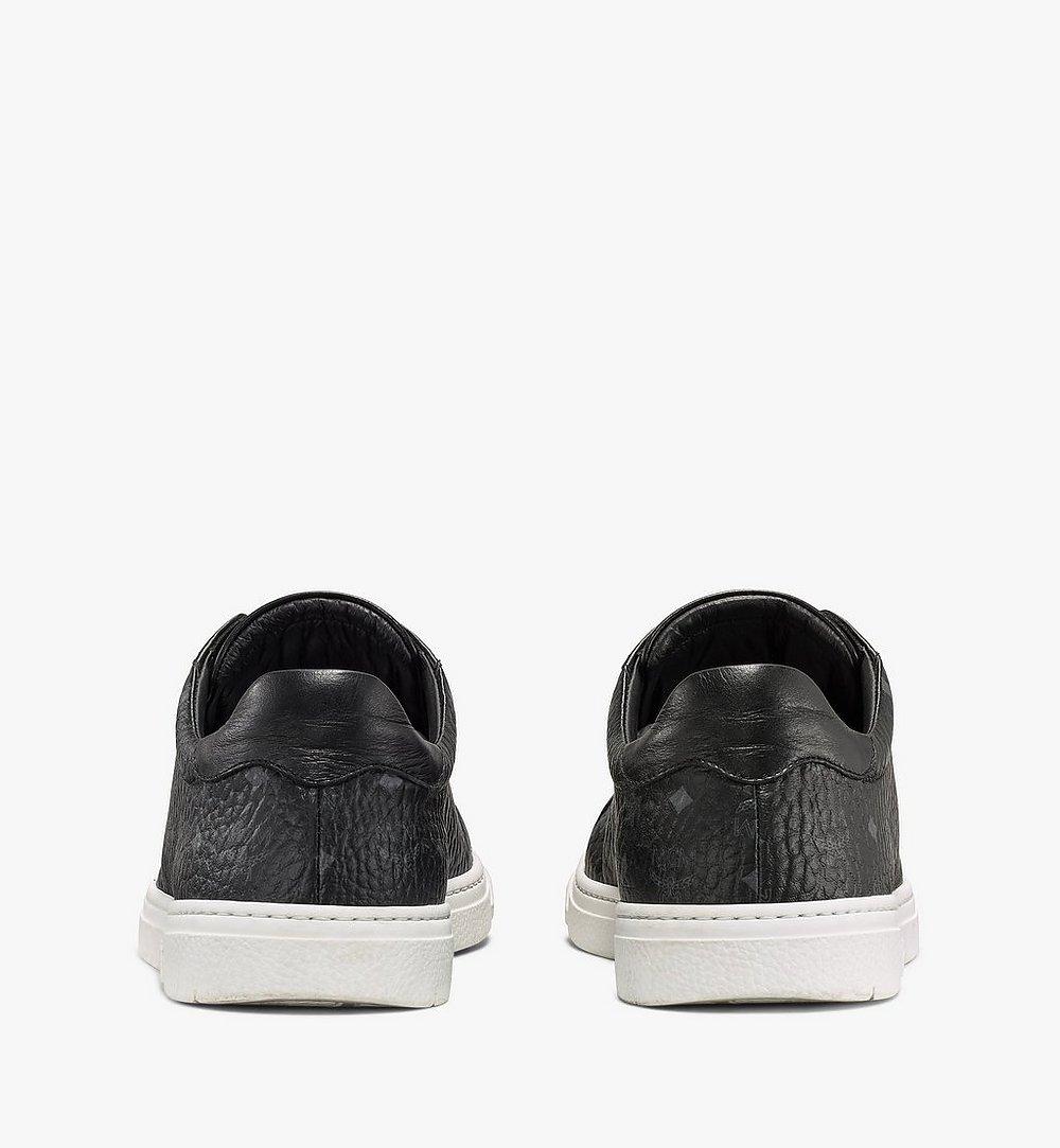 MCM Men's Terrain Lo Sneakers in Visetos Black MEXAAMM11BK040 Alternate View 2
