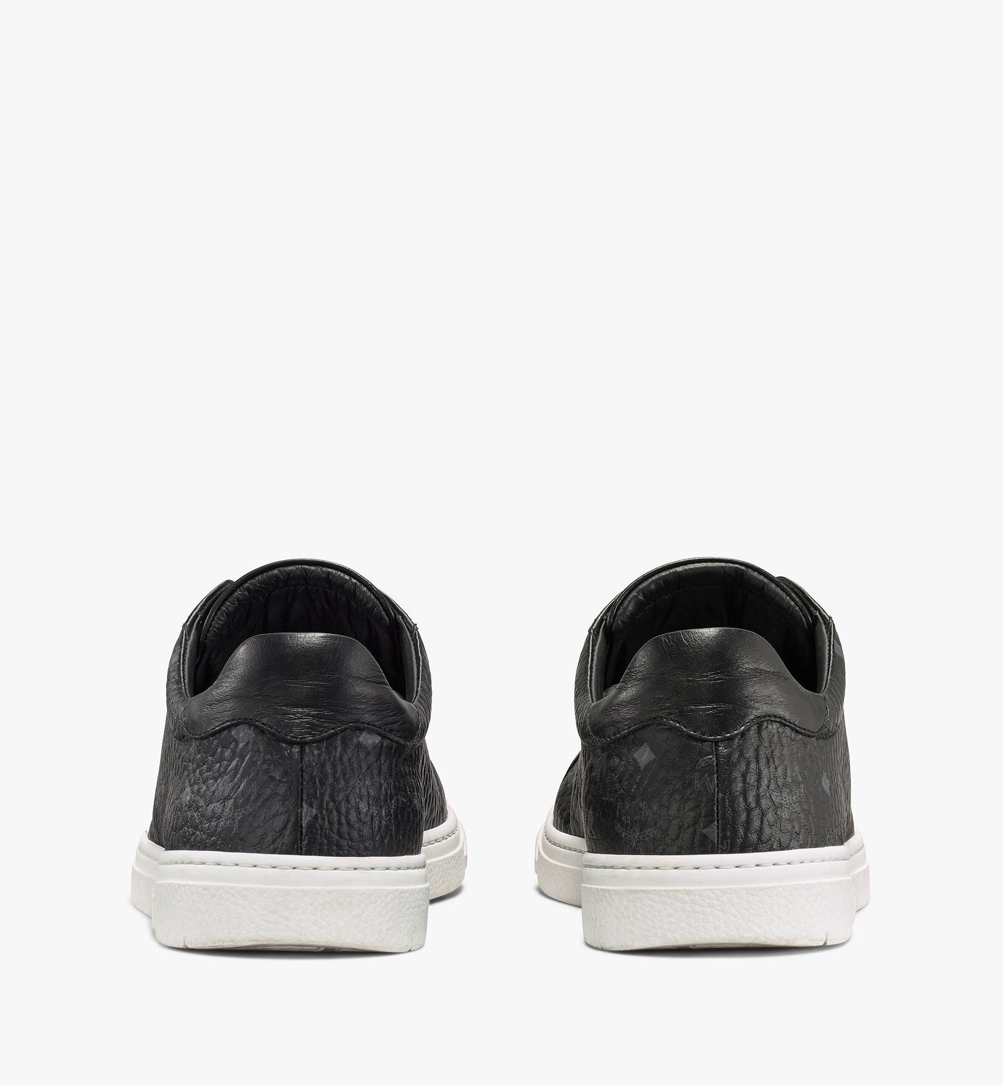 MCM Men's Terrain Lo Sneakers in Visetos Black MEXAAMM11BK042 Alternate View 2